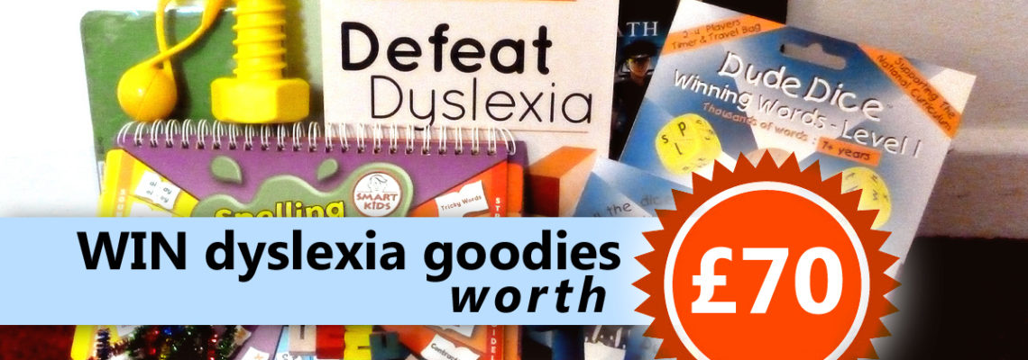 Win dyslexia goodies worth £70