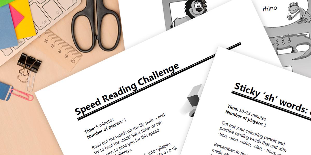 Free dyslexia worksheets