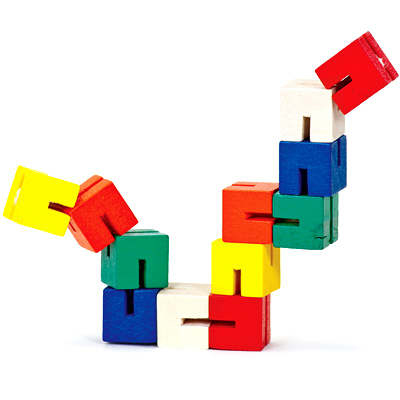 Twist and Lock Block fidget toy