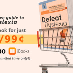 Defeat Dyslexia! only 99p/99¢ at Kobo and iBooks