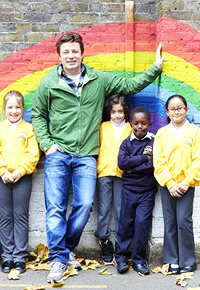 Jamie is known for his campaigning and work with children