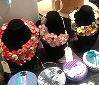 Examples of Julia's upcycled jewellery