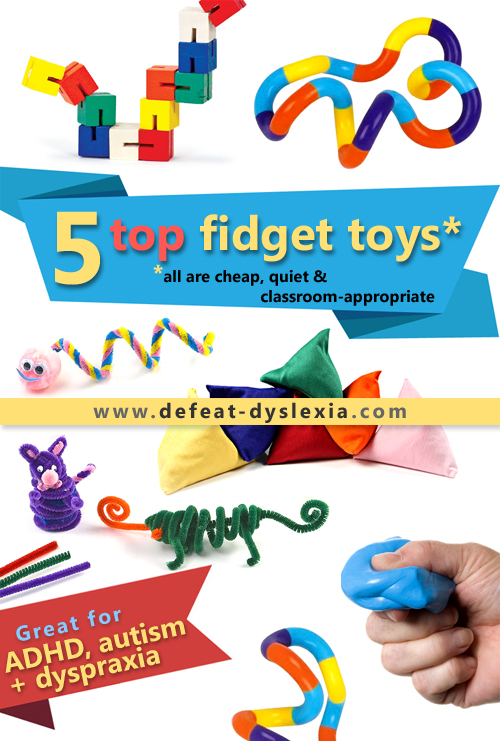 top 5 fidget toys for dyspaxia, ADHD and autism